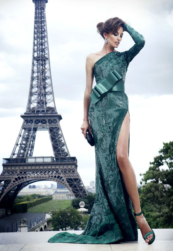 zuhair murad green prom dress 2014