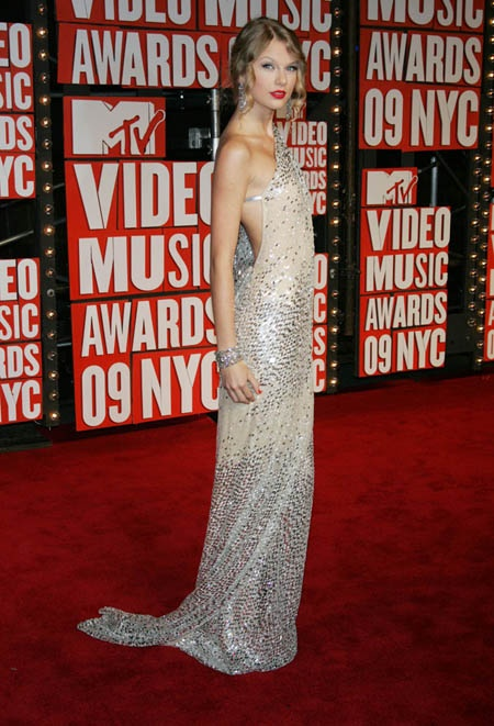 Tylor Swift  sexy sequin prom dress 2014
