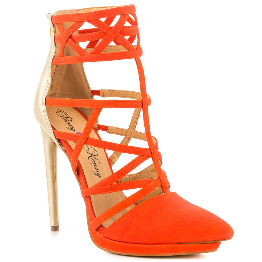 orange gold prom shoes 2014 Penny Loves Kenny