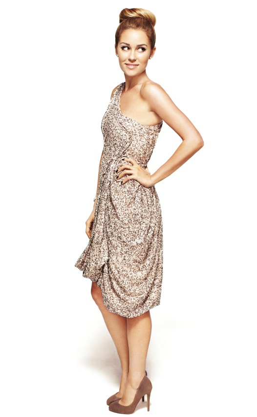 sequin one shoulder prom dress 2014