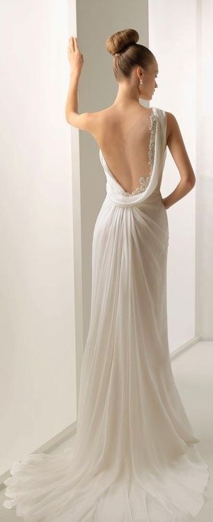 white prom dress with low back