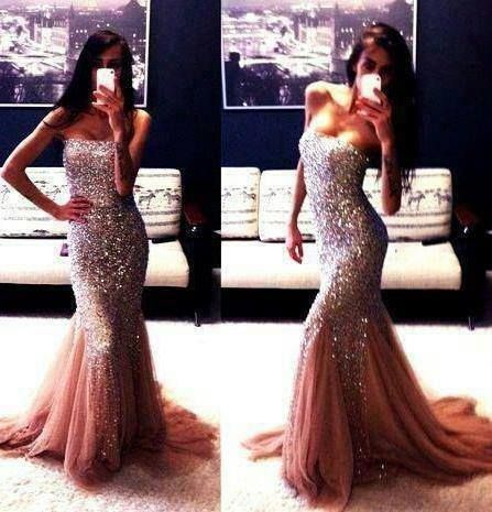 long sparkly prom dress 2014