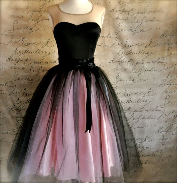 short black and pink prom dress 2014