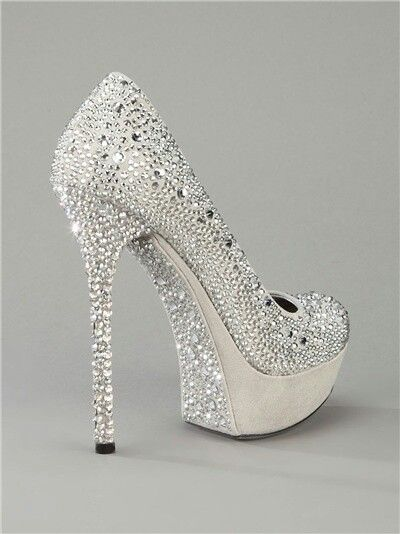 silver sequined prom shoes 2014
