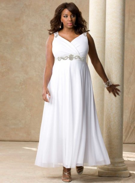 beautiful white plus size prom dress 2014