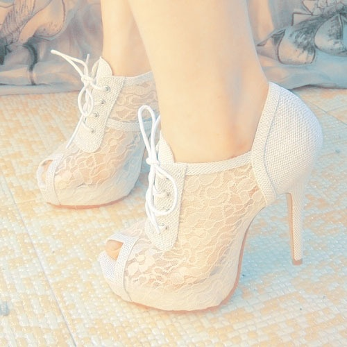 white lace prom booties 2014