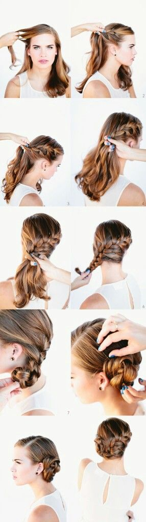 easy braid prom updo 2014 tutorial