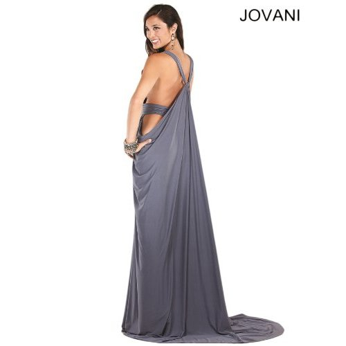 exotic grey prom dress 2014 Jovani-72644