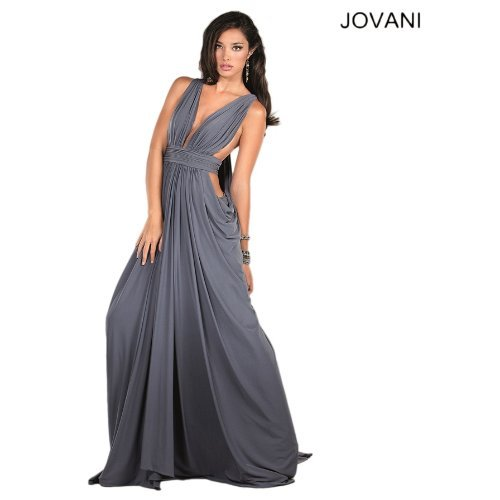 exotic grey prom dress 2014 Jovani