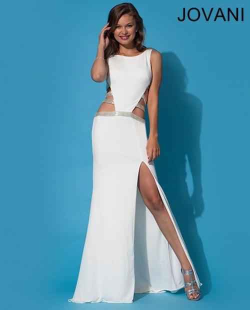 exotic white prom dress 2014 jovani