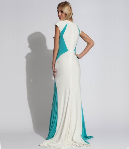 long white-blue prom dress 2014 Jovani-b