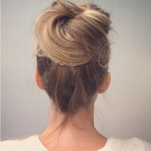 loose top bun updo for prom 2014 tutorial-1