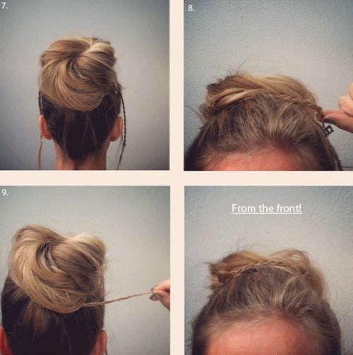 loose top bun updo for prom 2014 tutorial