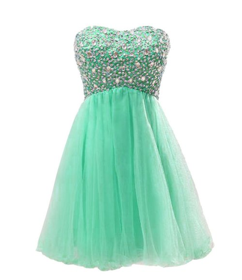Dressystar cute strapless mint prom dress 2015