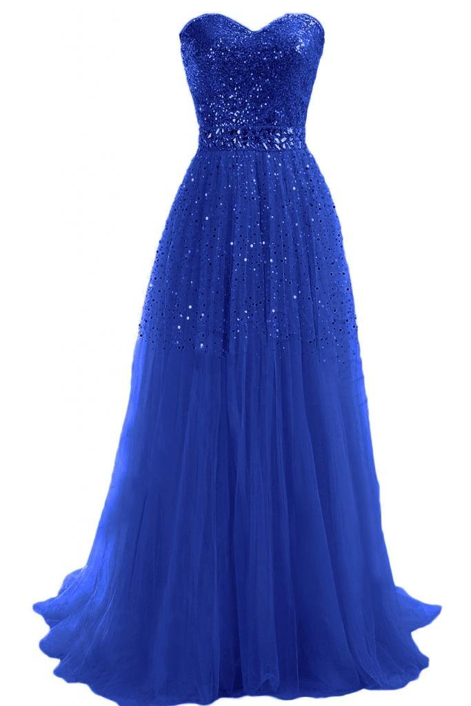 Gorgeous navy prom ball gown 2015 with strapless top Emma Y Exquisite