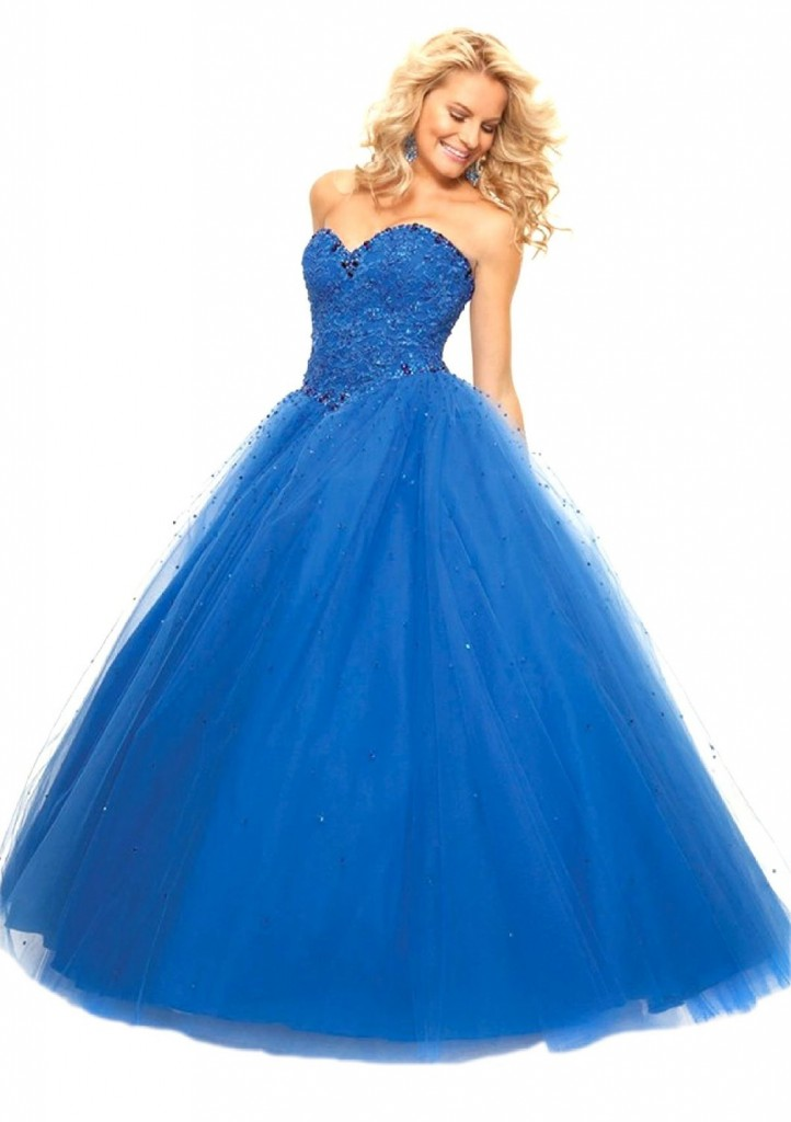 Long navy blue princess like ball gown 2015 NobleFans