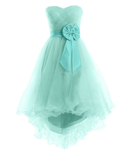 Sunvary high low mint prom dress 2015