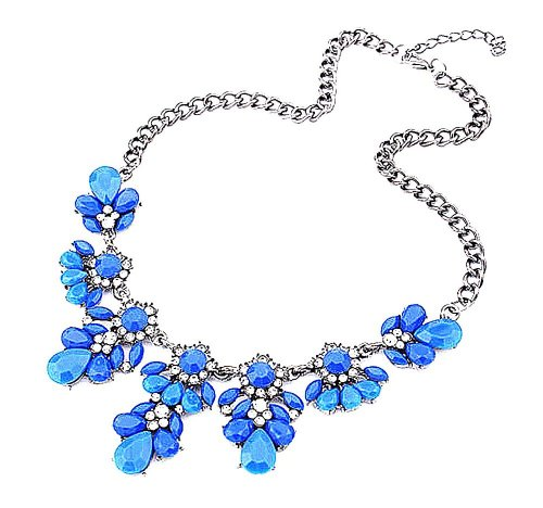 blue-silver stone statement prom necklace 2015