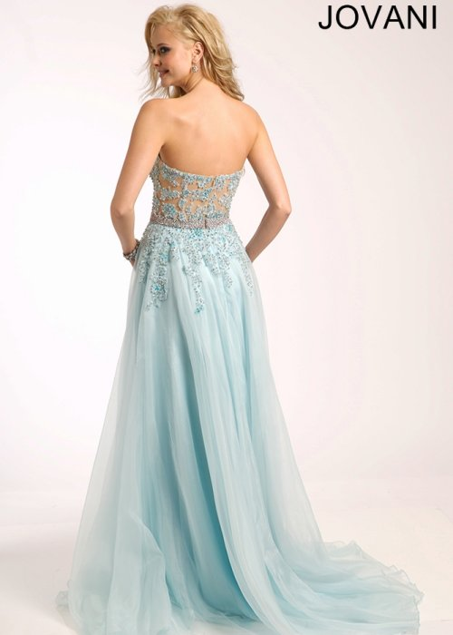 25655-strapless light blue prom dress 2015 by Jovani-
