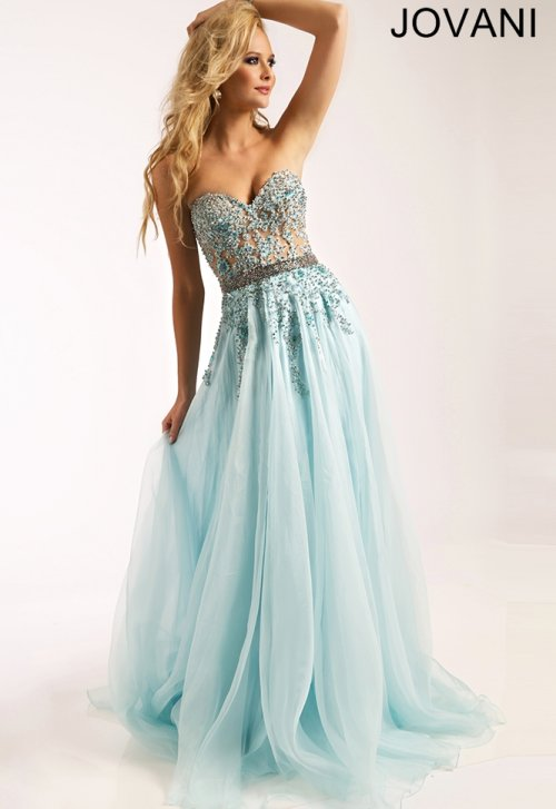 25655-strapless light blue prom dress 2015 by Jovani