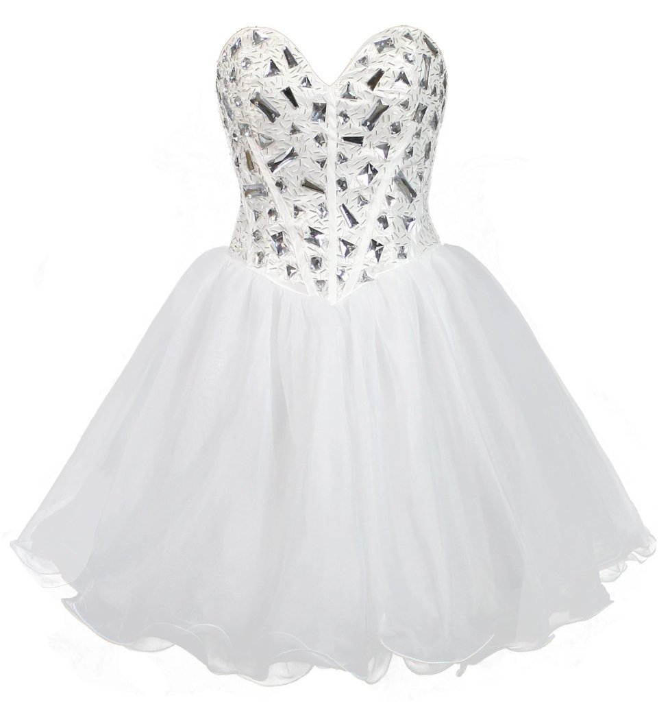 short white strapless prom ball gown 2015 by Faironly