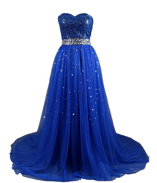 Dresstells navy blue strapless prom dress 2015