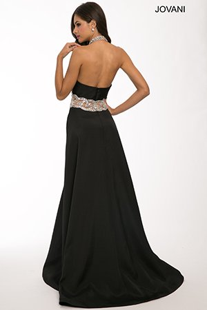 22617-elegant black prom dress 2015 by Jovani-
