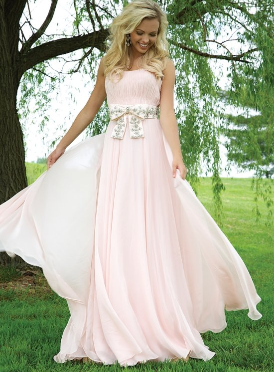 Long & Cute Blush Prom Dresses 2015 | Prom Night Styles