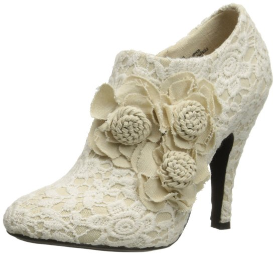 cute lace beige prom ankle boots 2015 by Dolce by Mojo Moxy