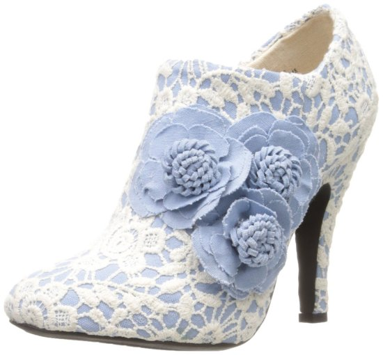 cute lace blue prom ankle boots 2015 by Dolce by Mojo Moxy