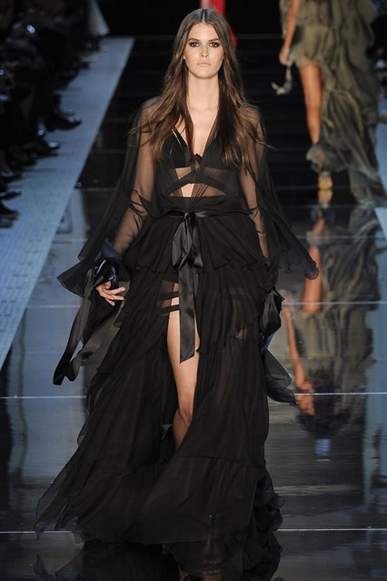 Alexandre Vauthier SS 2016 black lace tulle prom dress