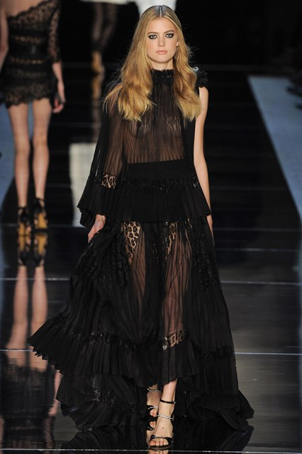 Alexandre Vauthier SS 2016 black prom lace dress