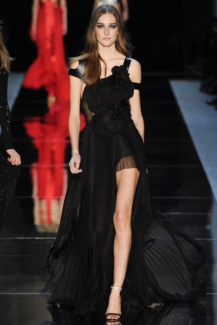 Alexandre Vauthier SS 2016 sexy black prom dress