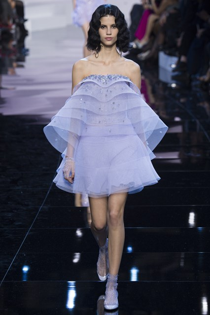 Giorgio Armani Prive SS 2016 blue dress