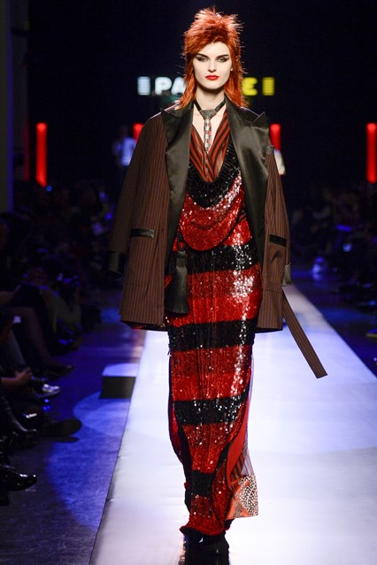 Jean Paul Gaultier SS2016 black and red sequince