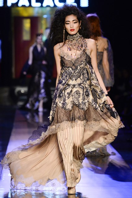 Jean Paul Gaultier SS2016 lace pleats for prom