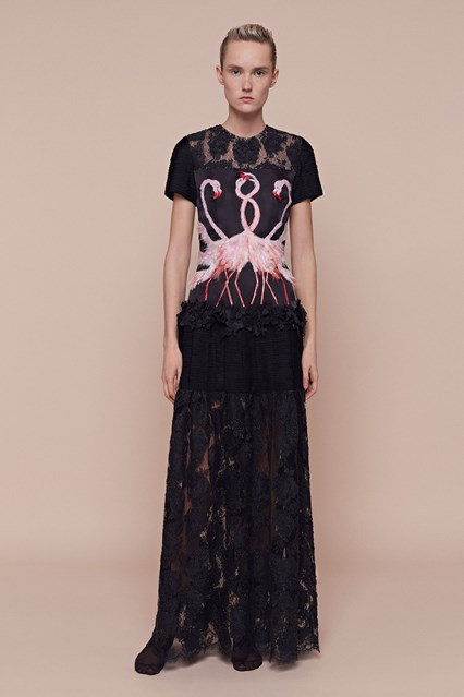 long black flamingo prom dress 2016 by Aouadi