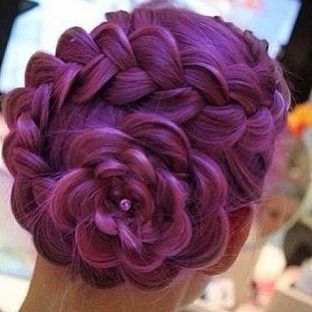Easy And Cute Flower Braid Prom Updo 2014 Prom Night Styles
