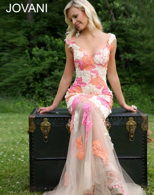 Colorful Floral Lace Prom Dresses 2015 by Jovani | Prom Night Styles
